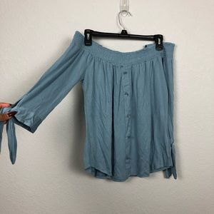 Blue Button Blouse